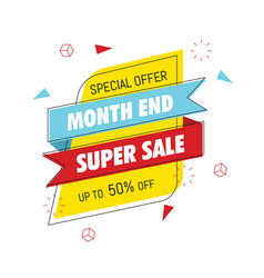 month end super sale banner vector image