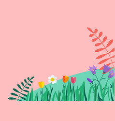 natural flowers background vector image