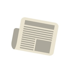 Newspaper letter news daily vector