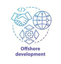 offshore development concept icon recruiting vector image