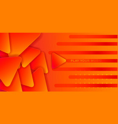 orange music abstract vector image