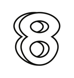 Outlined number on white background vector