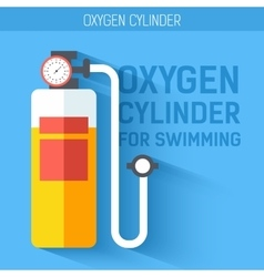 Oxygen cylinder for swimming icon vector