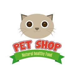 Pet shop background vector image