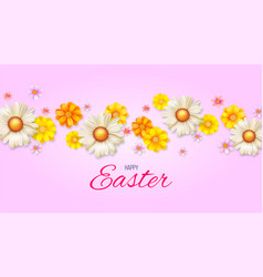 poster with easter camomile for decoration vector image