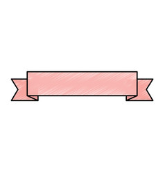 ribbon banner icon image vector image