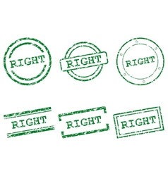Right stamps vector image