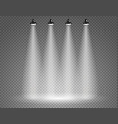Scene with spotlights on transparent background vector