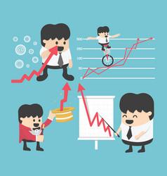 set businessman concepts cartoon business stock vector image