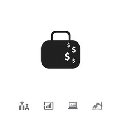 set of 5 editable statistic icons includes vector image