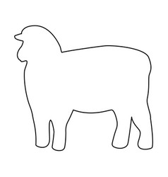 sheep silhouette black color path icon vector image