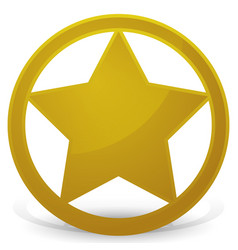 Sheriffs star - badge vector