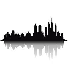 Skyline city on white background vector
