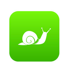 snail icon digital green vector image