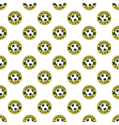 Soccer pattern seamless vector image