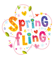 spring fling vector image