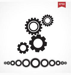 Standard gear icon vector