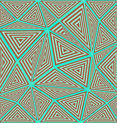 Striped triangle puzzle mosaic background vector
