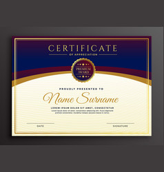 Stylish certificate design professional template vector