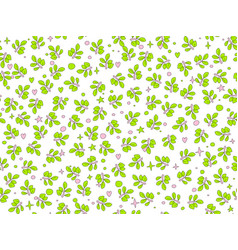 summer green leaves seamless pattern vector image
