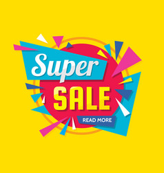super sale - creative banner vector image
