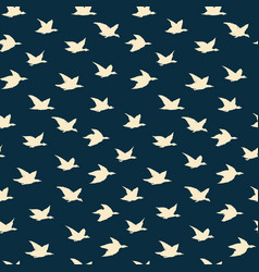 swallow birds seamless pattern with yellow flying vector image