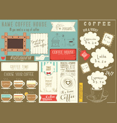 Template menu for coffee house vector