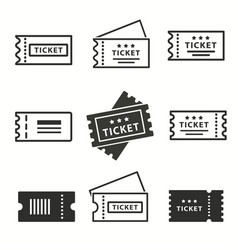 ticket icons set vector image