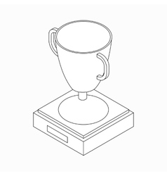 Trophy cup winner icon isometric 3d style vector image