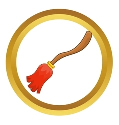 Witches broom icon vector