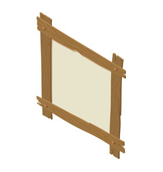 wooden board icon isometric style vector image