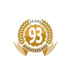 93 years ribbon anniversary vector image vector image