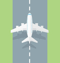Airplane runway Airplane trendy icon vector image