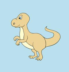 baby dino cartoon vector image vector image