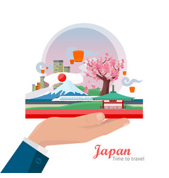 japan travel poster vector image