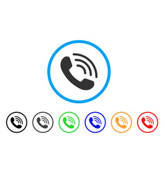 Phone ring rounded icon vector