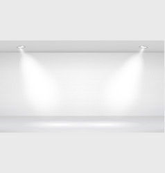 photo studio room empty white interior vector image