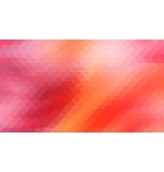 Red background with triangles shapes vector image