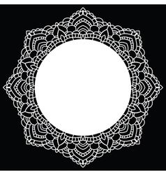 Round lace pattern Mandala vector image vector image