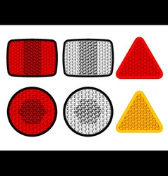 safety reflectors red white orange vector image vector image