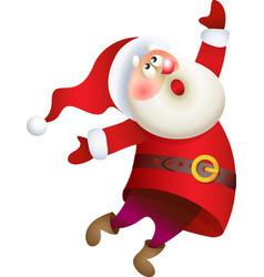 Santa Claus singing Christmas song vector image