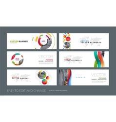 Set of modern horizontal website banners vector