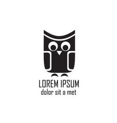 Stylized owl on white background vector image