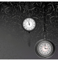 Abstract black and white wallpaper with pocket vector image vector image