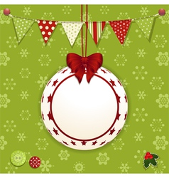 Christmas bauble and background vector image vector image