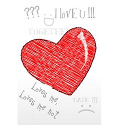 heart sketch vector image