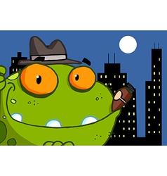 Mobster Frog Cartoon Character vector image