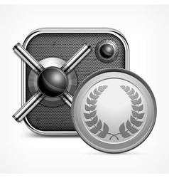 Safe icon coin vector image vector image