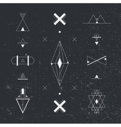 Set of geometric shapes Trendy hipster background vector image vector image