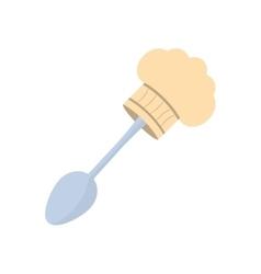 Spoon hat chef cook utensil vector